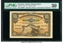 Gibraltar Government of Gibraltar 5 Pounds 1.10.1927 Pick 13 PMG Very Fine 30. Annotations.  HID09801242017  © 2020 Heritage Auctions | All Rights Res...