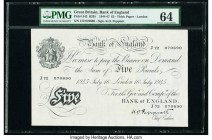 Great Britain Bank of England 5 Pounds 16.7.1945 Pick 342 PMG Choice Uncirculated 64.   HID09801242017  © 2020 Heritage Auctions | All Rights Reserved...