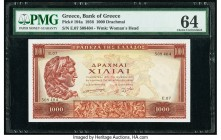 Greece Bank of Greece 1000 Drachmai 1956 Pick 194a PMG Choice Uncirculated 64.   HID09801242017  © 2020 Heritage Auctions | All Rights Reserved