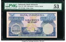 Indonesia Bank Indonesia 500 Rupiah 1.1.1959 Pick 70 PMG About Uncirculated 53.   HID09801242017  © 2020 Heritage Auctions | All Rights Reserved