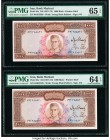 Iran Bank Markazi 1000 Rials ND (1971-73) Pick 94c Two Consecutive Examples PMG Choice Uncirculated 64 EPQ; Gem Uncirculated 65 EPQ.   HID09801242017 ...