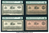 Ireland National Bank Limited 1 Pound 2.3.1908; 1.5.1911 Pick A57p Two Incomplete Proofs PMG Uncirculated 62; Choice About Unc 58; 10; 5 Pounds 5.12.1...