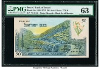 Israel Bank of Israel 50 Lirot 1955 / 5715 Pick 28a PMG Choice Uncirculated 63.   HID09801242017  © 2020 Heritage Auctions | All Rights Reserved