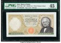 Italy Banca d'Italia 100,000 Lire 1967 Pick 100a PMG Choice Extremely Fine 45. Minor repair.  HID09801242017  © 2020 Heritage Auctions | All Rights Re...