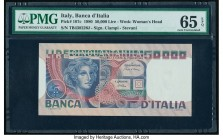 Italy Banca d'Italia 50,000 Lire 11.4.1980 Pick 107c PMG Gem Uncirculated 65 EPQ.   HID09801242017  © 2020 Heritage Auctions | All Rights Reserved