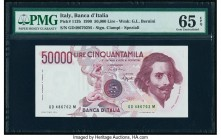Italy Banca d'Italia 50,000 Lire 1990 Pick 113b PMG Gem Uncirculated 65 EPQ.   HID09801242017  © 2020 Heritage Auctions | All Rights Reserved