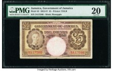 Jamaica Government of Jamaica 5 Pounds 1.8.1952 Pick 43 PMG Very Fine 20. Erasure.  HID09801242017  © 2020 Heritage Auctions | All Rights Reserved