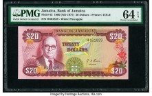Jamaica Bank of Jamaica 20 Dollars 1960 (ND 1977) Pick 63 PMG Choice Uncirculated 64 EPQ.   HID09801242017  © 2020 Heritage Auctions | All Rights Rese...