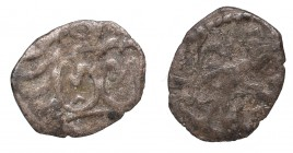 Jagiellon denarius - two-sided destruct