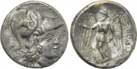 KINGS OF MACEDON. Alexander III 'the Great' (336-323 BC). Fourrée Stater. Imitating uncertain mint.