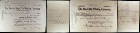 USA Mining Share Certificates, Cripple Creek Colorado (2) The Doctor Jack Pot Mining Company certificate for 2000 shares, issued September 11th 1905, ...