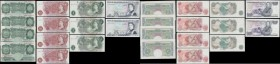 Bank of England 10 Shillings to 5 Pounds O'Brien, Hollom & Page 1950-80's (13) all in GEF to about UNC comprising 1 Pounds O'Brien B273 Green Britanni...