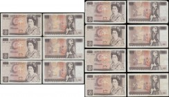 Ten Pounds Page QE2 pictorial & Florence Nightingale B330 issues 1975 (7) all circulated in various grades VG/Fine to VF including a FIRST series pref...