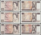 Ten Pounds QE2 pictorial & Florence Nightingale Page & Kentfield (3) comprising Page B331 Replacement issue 1975 serial number M18 093710, GVF Minor 1...