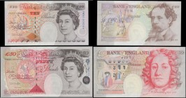 Bank of England Kentfield Special prefix PW50 and matching LOW serial numbers Commemorative Prince of Wales 50th Birthday 1998 (2) both UNC in the ori...