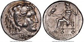 MACEDONIAN KINGDOM. Alexander III the Great (336-323 BC). AR tetradrachm (26mm, 17.16 gm, 11h). NGC AU 5/5 - 4/5. Posthumous issue of Babylon, under S...