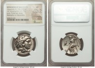 MACEDONIAN KINGDOM. Alexander III the Great (336-323 BC). AR tetradrachm (26mm, 17.17 gm, 11h). NGC XF 4/5 - 3/5, light scratches. Early Ptolemaic iss...
