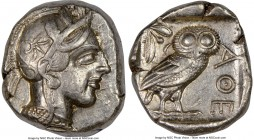 ATTICA. Athens. Ca. 440-404 BC. AR tetradrachm (24mm, 17.18 gm, 7h). NGC XF 5/5 - 4/5. Mid-mass coinage issue. Head of Athena right, wearing crested A...