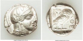 ATTICA. Athens. Ca. 440-404 BC. AR tetradrachm (25mm, 17.19 gm, 5h). Choice XF. Mid-mass coinage issue. Head of Athena right, wearing crested Attic he...