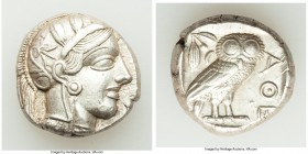 ATTICA. Athens. Ca. 440-404 BC. AR tetradrachm (23mm, 17.20 gm, 10h). Choice XF. Mid-mass coinage issue. Head of Athena right, wearing crested Attic h...