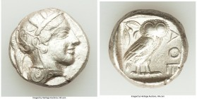 ATTICA. Athens. Ca. 440-404 BC. AR tetradrachm (23mm, 17.15 gm, 11h). Choice VF. Mid-mass coinage issue. Head of Athena right, wearing crested Attic h...