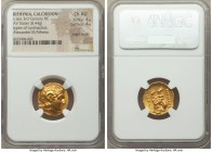BITHYNIA. Calchedon. Ca. late 3rd century BC. AV stater (18mm, 8.44 gm, 12h). NGC Choice AU 4/5 - 4/5, edge marks. Name and type of Lysimachus. Diadem...