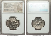 IONIA. Ephesus. Early 3rd century BC. AR tetradrachm (28mm, 16.99 gm, 12h). NGC Choice XF 5/5 - 3/5, Fine Style. Posthumous issue in the name and type...