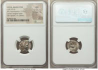 LYCIAN LEAGUE. Masicytes. Ca. 48-20 BC. AR hemidrachm (16mm, 1.94 gm, 12h). NGC MS 5/5 - 4/5. Series 5. Laureate head of Apollo right; Λ-Y below / M-A...