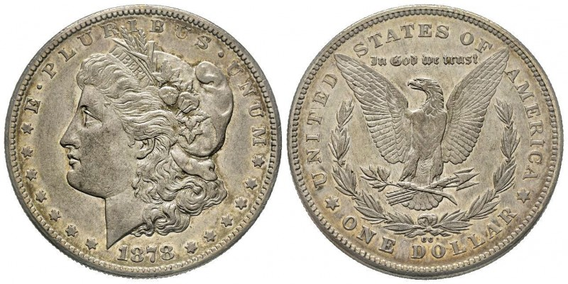Morgan Dollar, Carson City, 1878 CC, AG Conservation : Superbe