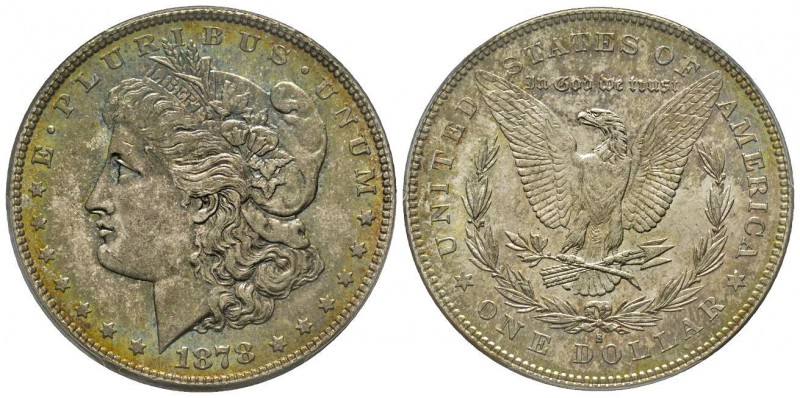 Morgan Dollar, San Francisco, 1878 S, AG Conservation : PCGS MS64