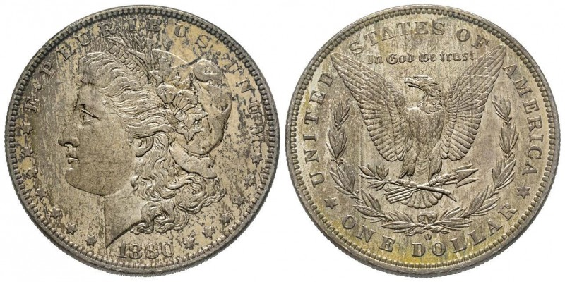 Morgan Dollar, New Orleans, 1880 O, AG Conservation : FDC