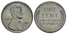 1 Cent, 1943, Lincoln, Zinc 2.7 g. Conservation : FDC
