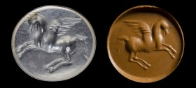 A roman chalcedony intaglio. Pegasus.