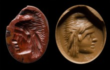 A roman red jasper intaglio. Gryllos.