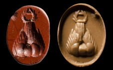 A roman red jasper intaglio. Mount Argaios.
