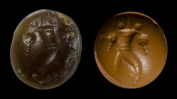 An italic agate intaglio. Cornucopia. 