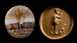 An italic banded agate intaglio. Wayfarer.
