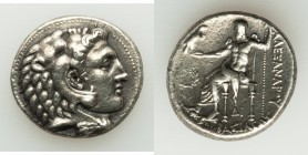 MACEDONIAN KINGDOM. Alexander III the Great (336-323 BC). AR tetradrachm (27mm, 17.04 gm, 7h). About XF. Late lifetime-early posthumous issue of 'Side...