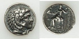 MACEDONIAN KINGDOM. Alexander III the Great (336-323 BC). AR tetradrachm (27mm, 16.92 gm, 3h). Choice VF, scratch. Lifetime or early posthumous issue ...