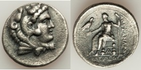 MACEDONIAN KINGDOM. Alexander III the Great (336-323 BC). AR tetradrachm (29mm, 16.67 gm, 9h). VF. Late lifetime or early posthumous issue of Aradus, ...