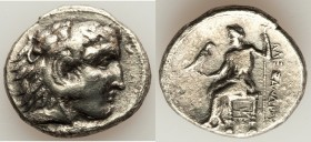 MACEDONIAN KINGDOM. Alexander III the Great (336-323 BC). AR tetradrachm (27mm, 16.59 gm, 12h). VF, porosity. Lifetime issue of Tyre. Head of Heracles...