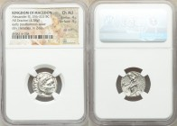 MACEDONIAN KINGDOM. Alexander III the Great (336-323 BC). AR drachm (17mm, 4.38 gm, 11h). NGC Choice AU 4/5 - 4/5, die shift. Early posthumous issue o...