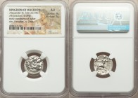MACEDONIAN KINGDOM. Alexander III the Great (336-323 BC). AR drachm (18mm, 4.09 gm, 12h). NGC AU 4/5 - 5/5. Posthumous issue of Abydus, ca. 310-301 BC...