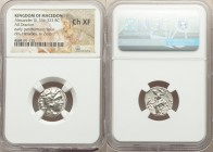 MACEDONIAN KINGDOM. Alexander III the Great (336-323 BC). AR drachm (17mm, 11h). NGC Choice XF. Early posthumous issue of Colophon, ca. 310-301 BC. He...
