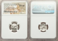 MACEDONIAN KINGDOM. Alexander III the Great (336-323 BC). AR drachm (17mm, 12h). NGC Choice XF. Early posthumous issue, Sardes, ca. 323-319 BC. Head o...