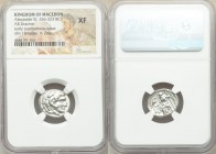 MACEDONIAN KINGDOM. Alexander III the Great (336-323 BC). AR drachm (17mm, 11h). NGC XF. Late lifetime-early posthumous issue of 'Teos', ca. 323-319 B...