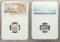 MACEDONIAN KINGDOM. Alexander III the Great (336-323 BC). AR drachm (16mm, 1h). NGC VF. Lifetime or early posthumous issue of Sardes, ca. 334-323 BC. ...