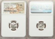 MACEDONIAN KINGDOM. Alexander III the Great (336-323 BC). AR drachm (16mm, 12h). NGC VF. Lifetime issue of Miletus, ca. 325-323 BC. Head of Heracles r...