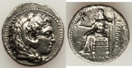 MACEDONIAN KINGDOM. Philip III Arrhidaeus (323-317 BC). AR tetradrachm (28mm, 16.44 gm, 2h). XF, light porosity. Babylon. Head of Heracles right, wear...