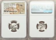 THRACIAN KINGDOM. Lysimachus (305-281 BC). AR drachm (17mm, 11h). NGC XF. Posthumous issue of Colophon, in the name and types of Alexander of Macedon,...
